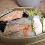 焼き鮭 サツマイモサラダ