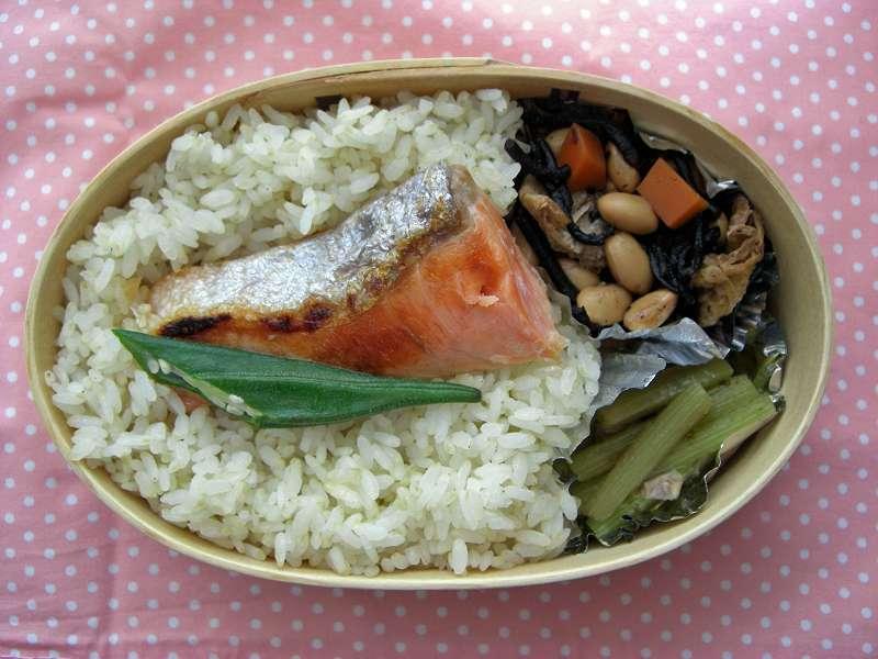 焼き鮭 胚芽ご飯