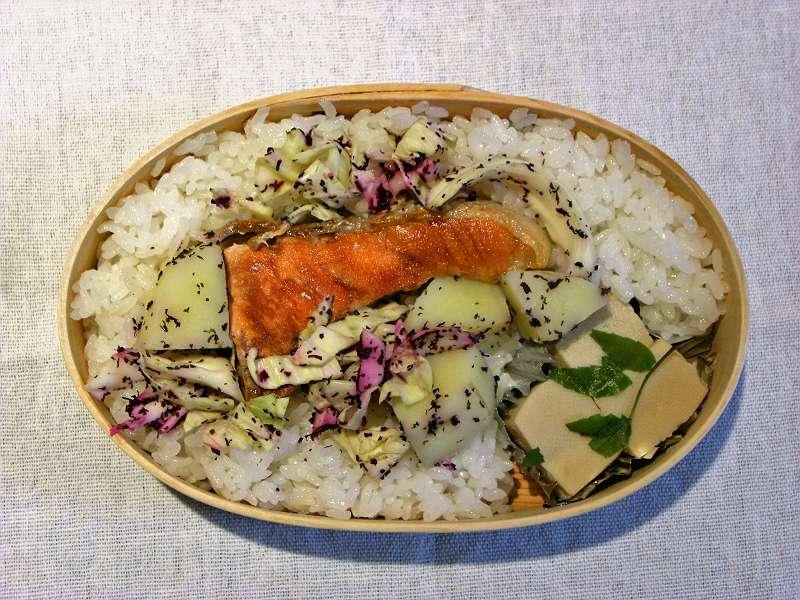 焼き鮭 高野豆腐