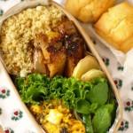 Sunday Bake Shopのレシピで、スコーンのお弁当。鶏の蜂蜜グリル。