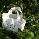 CHECK&STRIPEのレシピで、ミニトートバッグを作りました。