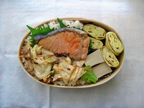 鮭の焼き浸し 七分搗きご飯