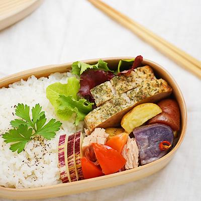 オーガニックなカラフル野菜弁当。