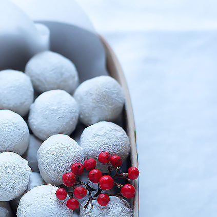New year Snowball Cookies