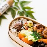 蕎麦の実と栗の炊き込みご飯弁当。