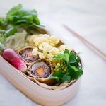 冬野菜のカラフルぎゅうぎゅう詰め弁当。