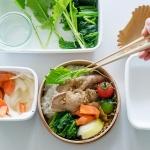 【お弁当の詰めかた】豚の生姜焼き弁当を詰めてみよう。