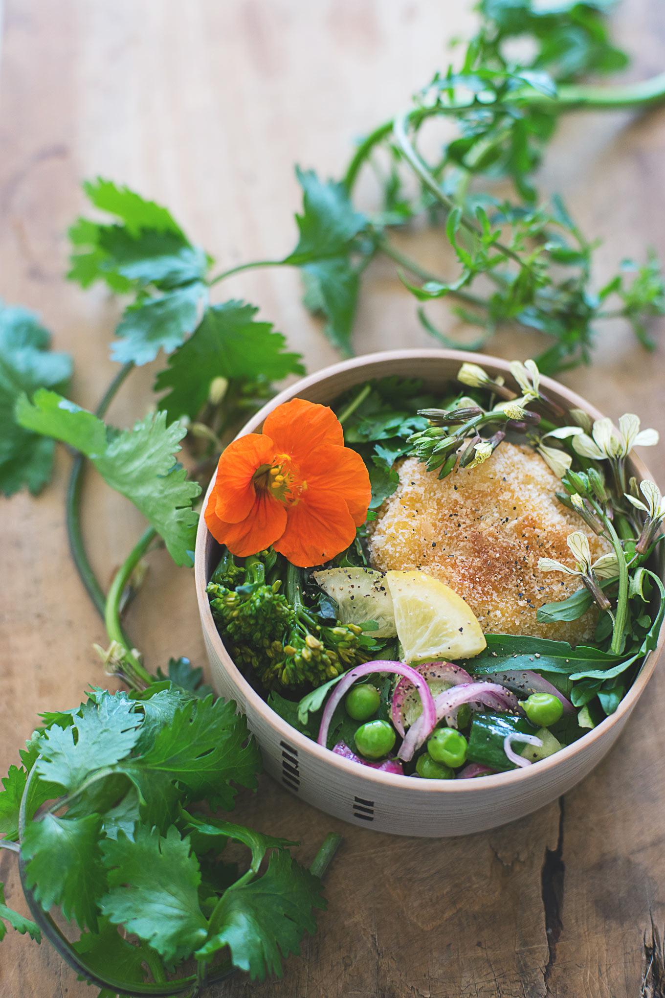 たまにはエスニック風!パクチーたっぷり海老カツのっけ弁当と、アマニ油のオススメレシピ。