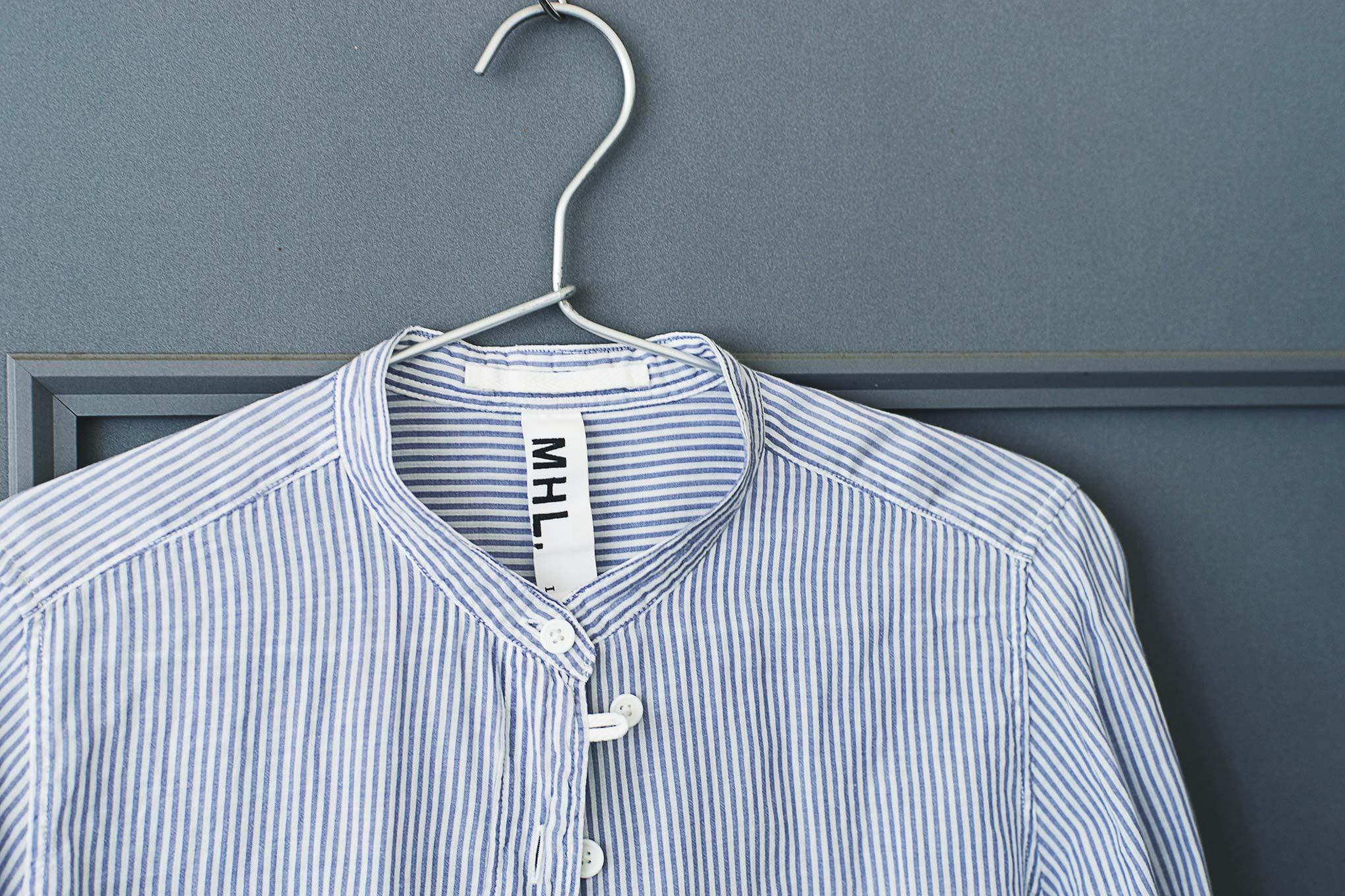 襟が破れたお気に入りのシャツをノーカラーシャツにリメイクしてみた