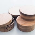 (日本語) 地元の杉を使った手作り曲げわっぱ、ようやく形になりました。