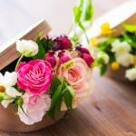 曲げわっぱからあふれる季節のお花・・ワクワクするレッスンの打ち合わせをしましたのでちらりとご紹介。