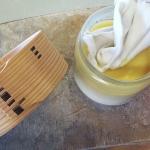 曲げわっぱに蜜蝋ワックスを塗ってみるテストをしました