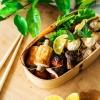 (日本語) きのこと豚バラと肉巻き串など。秋づくしのお弁当ができました。